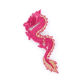 Iron on patch Dragon de Chine - fuchsia