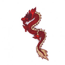 Iron on patch Dragon de Chine - carmine