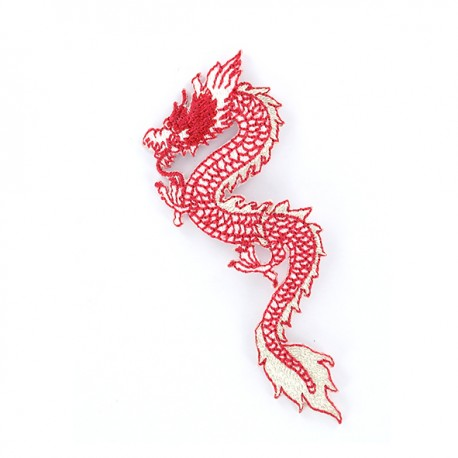 Iron on patch Dragon de Chine - red