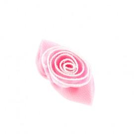 Fleur vichy à coller/coudre - rose
