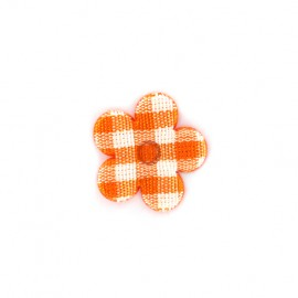 Gingham Flower - orange