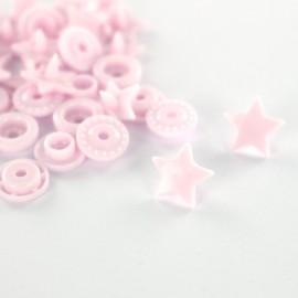 10 pressions rondes Kam - rose pâle