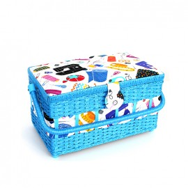 Boîte à couture My sewing tools - bleu