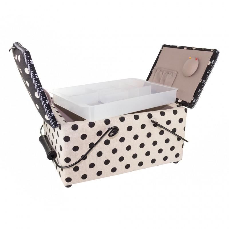 bo te couture rectangle lin large dots ma petite mercerie. Black Bedroom Furniture Sets. Home Design Ideas