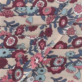 Biais coton Froufrou fleur 20 mm - mandarine x 1m