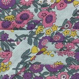 Cotton bias Froufrou fleur 20 mm - celadon x 1m
