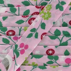 Biais coton Froufrou oiseau 20 mm - pétale de rose x 1m