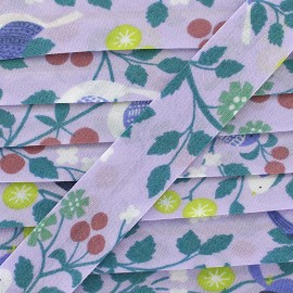 Cotton bias Froufrou oiseau 20 mm - parma x 1m