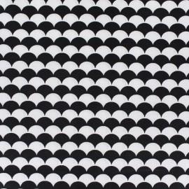 Tissu coton Ecay - noir x 10cm