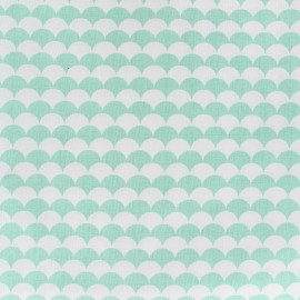 Tissu coton Ecay - menthe x 10cm