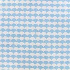 Cotton fabric Ecay - light blue x 10cm