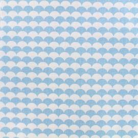 Tissu coton Ecay - bleu ciel x 10cm