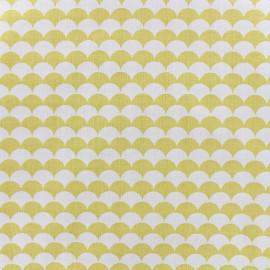 Tissu coton Ecay - jaune x 10cm