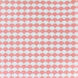 ♥ Coupon 35 cm X 150 cm ♥  Cotton fabric Ecay - corail