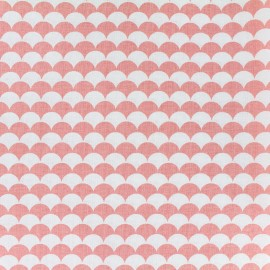 Cotton fabric Ecay - corail x 10cm