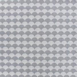 Tissu Oeko-Tex coton Ecay - gris x 10cm