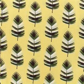 Tissu coton Cazeneg - jaune x 14cm