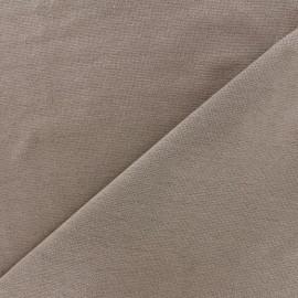 Jersey tubulaire bord-côte Oeko-tex 1/1 - châtaigne x 10cm