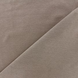 Knitted Jersey 1/1 tubular edging fabric - chestnut x 10cm