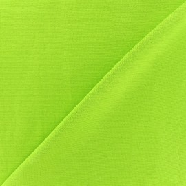 Knitted Jersey 1/1 tubular edging fabric - light lime x 10cm