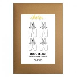 Patron Ikatee Brighton Pantalon Short à Bretelles - 6 mois à 4 ans