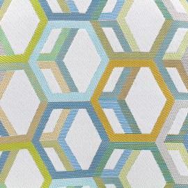 Woven jacquard canvas Hypnose - celadon x 16cm