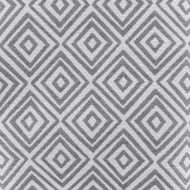 Tissu toile jacquard coton Totem (280cm) - fumée x 14cm