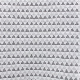 jacquard cotton Canvas Fabric Petit delta (280cm) - smoke x 10cm
