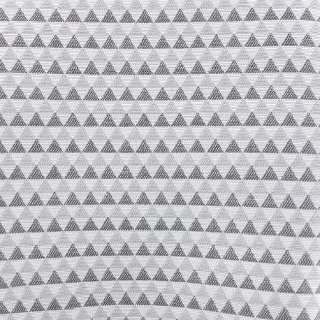 Tissu toile jacquard coton Petit delta (280cm) - fumée x 10cm