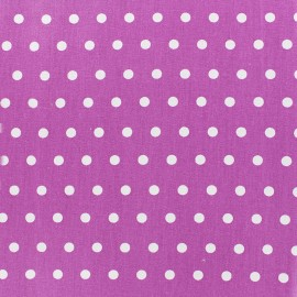 ♥ Only one piece 300 cm X 150 cm ♥ Small white dots Coated Cotton Fabric - light purple