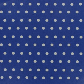 ♥ Coupon 20 cm X 150 cm ♥ Small white dots Coated Cotton Fabric - ocean