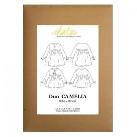 Patron Ikatee duo camélia robe et blouse 3 - 12 ans
