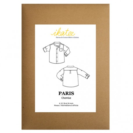 Sewing pattern Ikatee Brighton - trousers or pants with suspenders