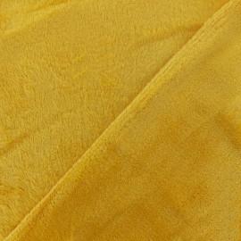 Tissu Doudou ultra doux - jaune x 10cm