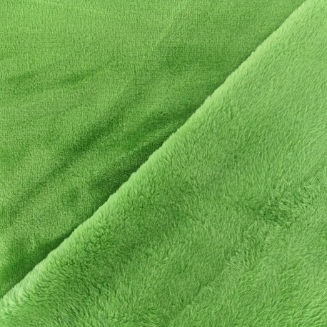 Tissu Doudou ultra doux - anis x 10cm