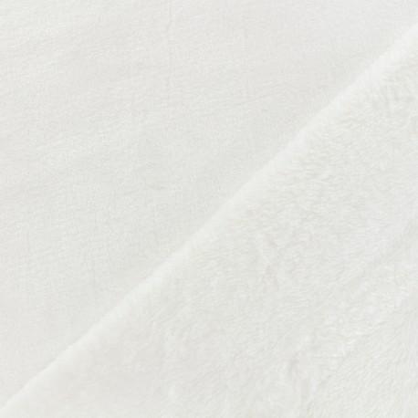 Tissu Doudou ultra doux - écru x 10cm