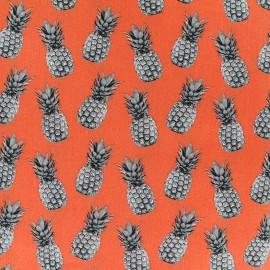 Tissu Poppy Pineapple proof - orange x 10cm