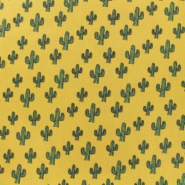 Poppy cotton fabric Cactus - yellow x 10cm