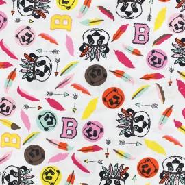 Tissu Poppy Bear called B - blanc x 10cm