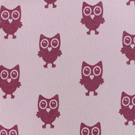 Tissu jersey Hibou Glitter - rose x 18cm