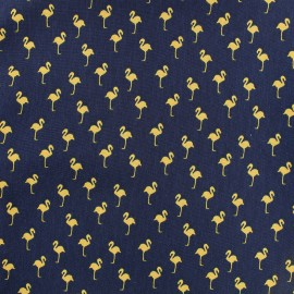 Satin Fabric Flamingo by Penelope® - navy x 10cm