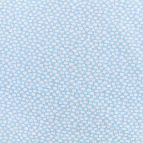 Tissu jersey little clouds - bleu clair x 10cm