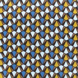 Tissu Gabardine lycra satinée légère Prisma - bleu x 10cm