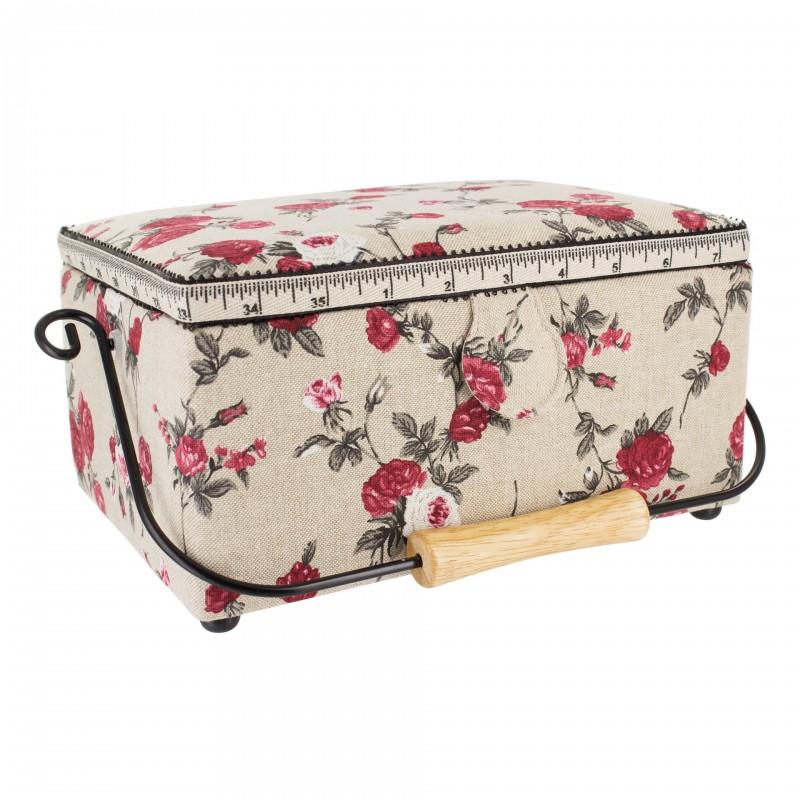 sewing box romantic flowers ma petite mercerie. Black Bedroom Furniture Sets. Home Design Ideas