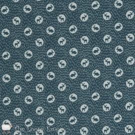 Fabric Dear Stella Midnight animals - ebony x 10cm