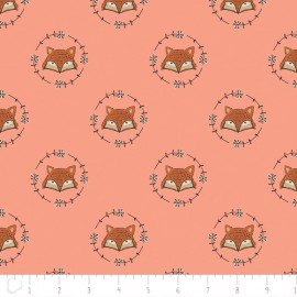 Tissu Camelot Fabrics Wilderness fox - peach x 10cm