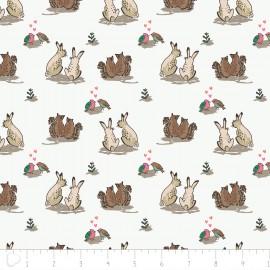 Tissu Camelot Fabrics Wilderness love - white x 12cm