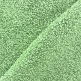 Tissu éponge vert amande x 10cm