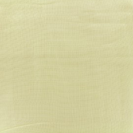 Tissu double gaze de coton Soft Touch - yellow x 10cm
