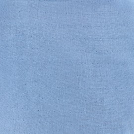 Tissu double gaze de coton Soft Touch - denim x 10cm